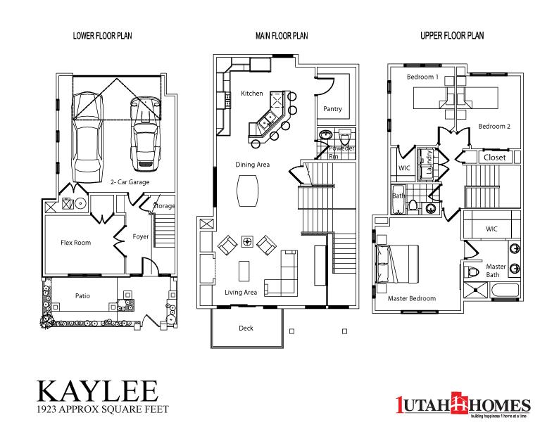 1 utah homes plymouth towns home plans for Utah floor plans