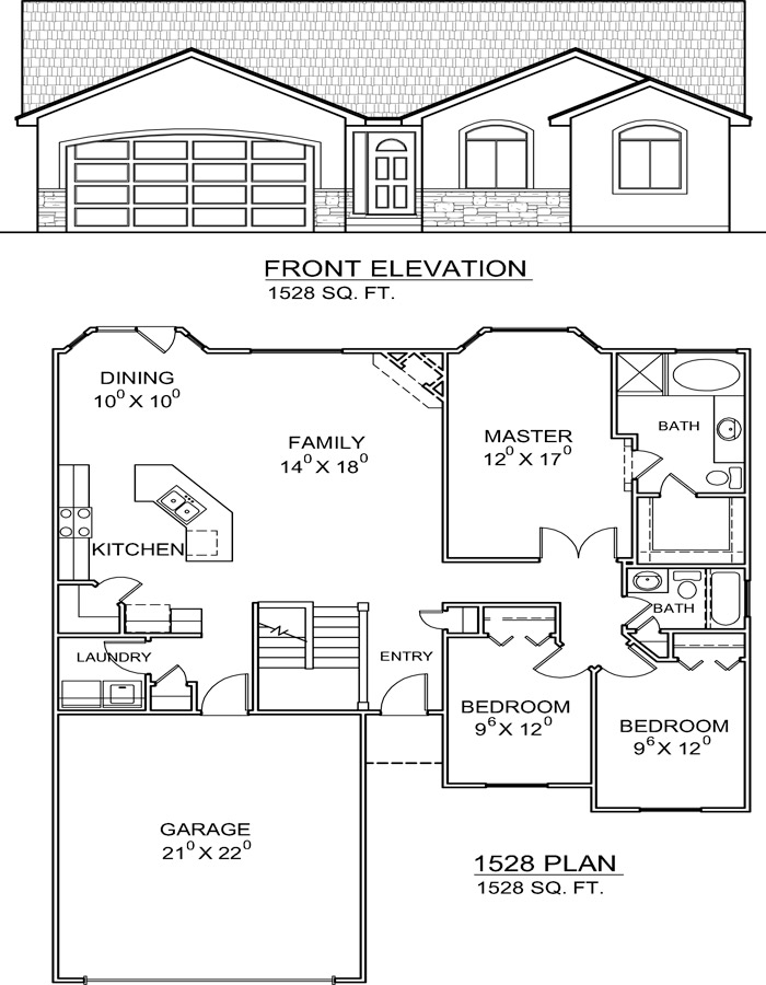 1528 Rambler Ranch Rambler Style House Plans On Buying House Plans From A Builder