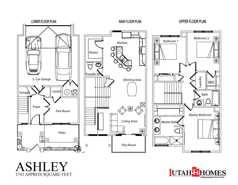 1 utah homes plymouth towns home plans for Utah home builders floor plans