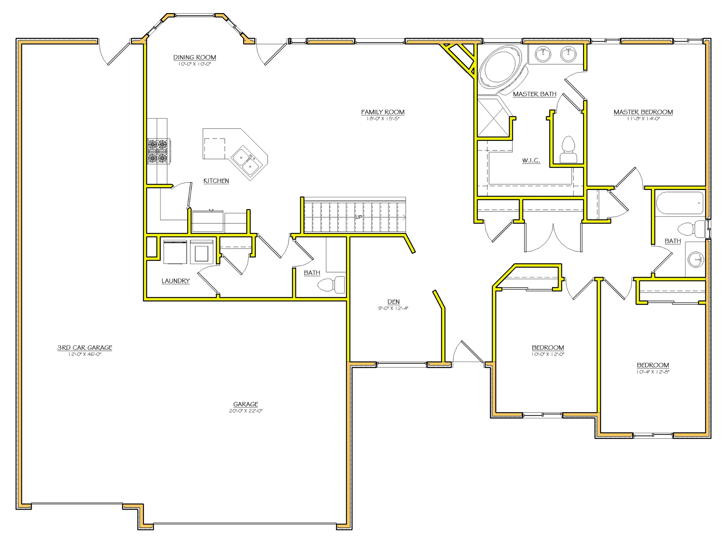 24 spectacular rambler house plans utah house plans 54091 for Utah home builders floor plans